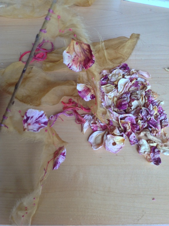 susi bancroft rose petal prayer flag